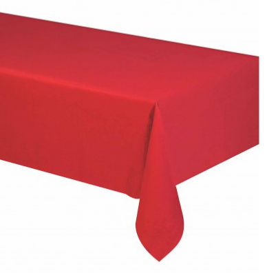 Nappe rectangulaire rouge vif